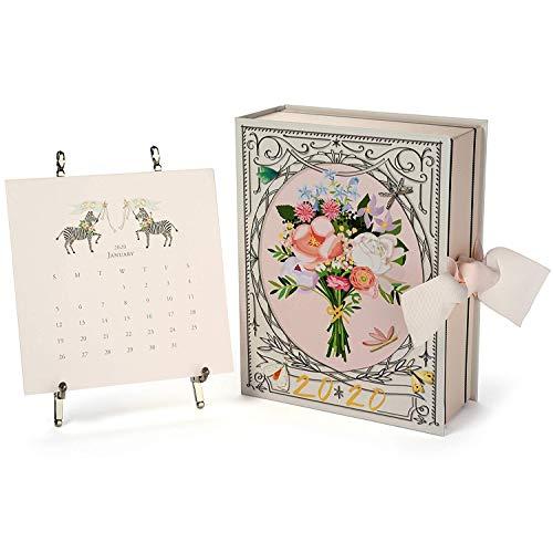 Karen Adams 2020 Desk Calendar 12 Month Silver Easel