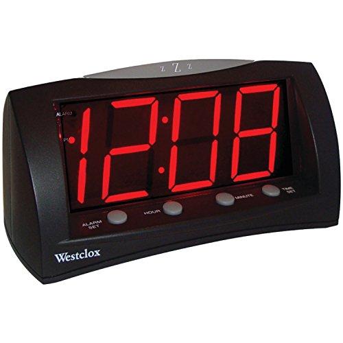 Westclox 66705 Oversized Snooze Alarm Clock, Black, 1.8'