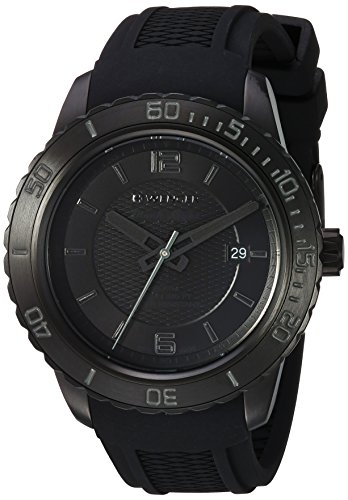 Wenger Men's Roadster Black Night Stainless Steel Swiss-Quartz Watch with Silicone Strap, 21 (Model: 01.0851.126)
