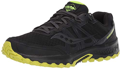 Saucony Men's Excursion TR14 GTX Trail Running Shoe, Black/Citron, 9