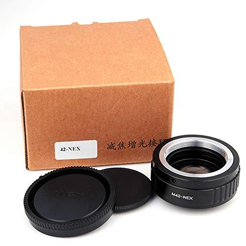 Pixco M42 Lens to Sony E-Mount Camera Lens Turbo Adapter Focusing Infinity Focal Reducer Speed Booster with Optical Glass Lens Adapter to Sony E Mount NEX-3 NEX5 NEX-3C NEX-5N NEX-7 NEXF3