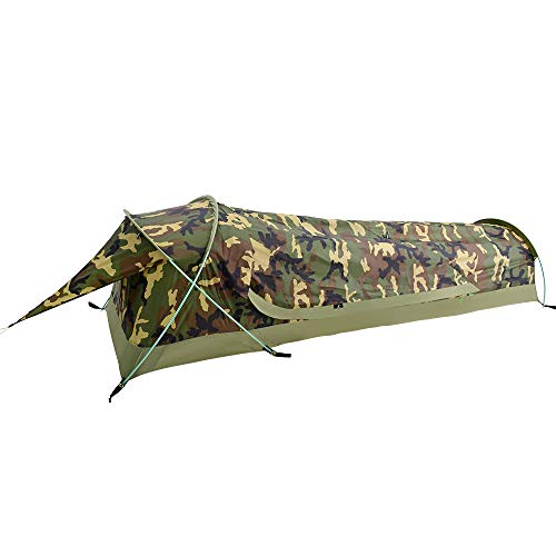 GEERTOP Ultralight 1-Person Waterproof Bivy Tent, Camouflage