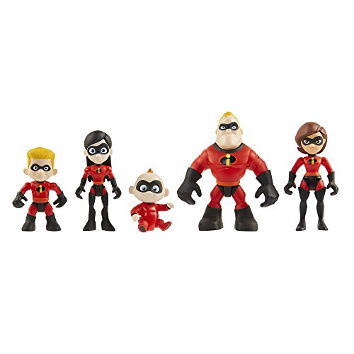 The Incredibles 2 Family 5-Pack Junior Supers Action Figures, Approximately 3' Tall