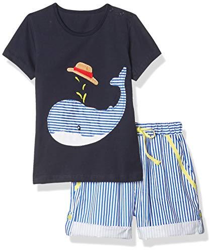 Fiream Little Boys' Cotton Clothing Short Baby Sets(2001TZ,18-24M)