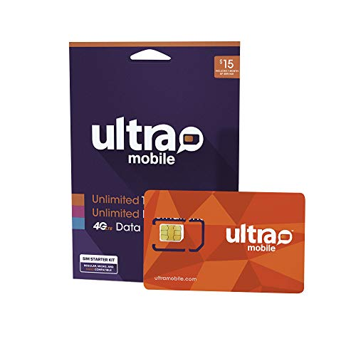 $15 Ultra Mobile Phone Plan   Unlimited Talk & Text + 250MB 5G • 4G LTE Data (3-in-1 GSM SIM Card)