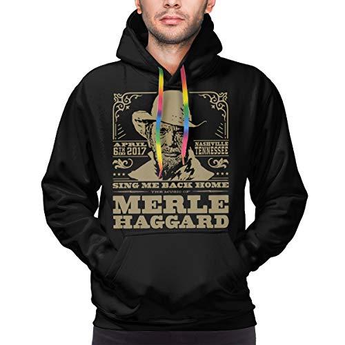 Others Singing Merle Haggard's Music Men's Hooded Hoodie Pullover Printed Hooded Sweatshirts Black M