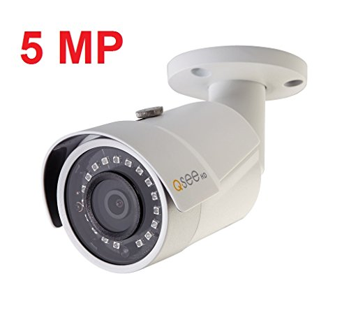Q-See QCN8099B 5MP H.265 IP HD Bullet Security Camera 100 ft Night Vision