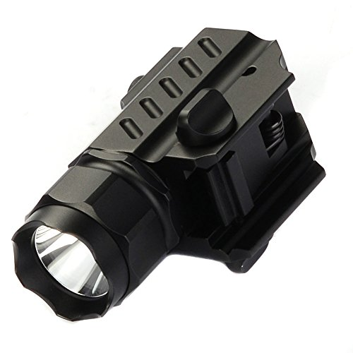 TrustFire G02 LED Tactical stund Gun Flashlight 2-Mode 210LM Pistol Handgun Torch Light for Picatinny MIL-STD-1913 STANAG 2324 Rail
