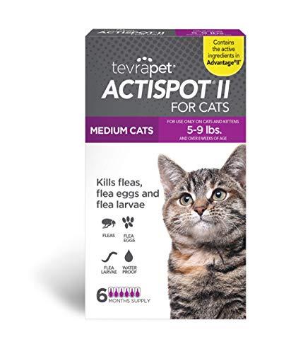 TevraPet Actispot II Flea Prevention for Cats - 5-9 lbs, 6 doses