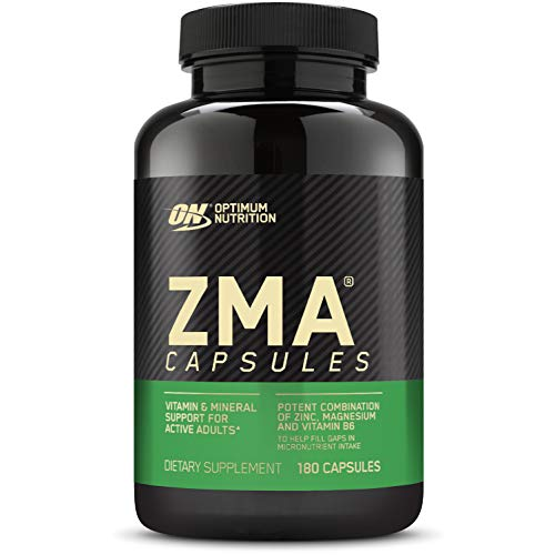 Optimum Nutrition ZMA, Zinc for Immune Support, Muscle Recovery and Endurance Supplement for Men and Women, Zinc and Magnesium Supplement, 180 Count (Packaging May Vary)