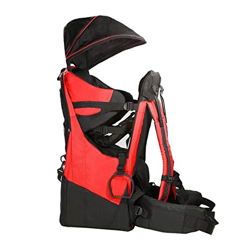 ClevrPlus Deluxe Adjustable Baby Carrier Outdoor Light Hiking Child Backpack Camping