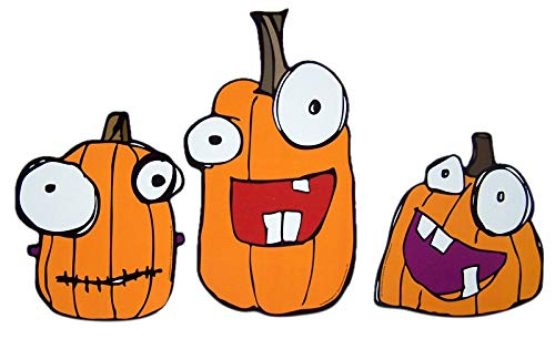 Mad Mags Halloween Pumpkin Magnet Decal Set of 3 10 Inch