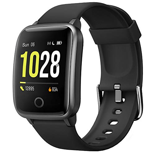 Willful Smart Watch, Watches for Men Women IP68 Waterproof Fitness Tracker with Steps Calories Counter Sleep Tracker Compatible with iOS and Android Phones (Black)