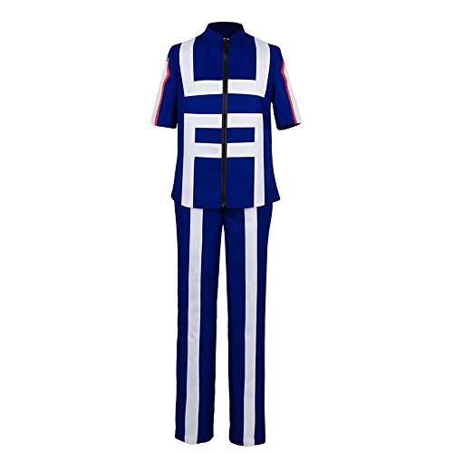 Valecos Cosplay Boku No Hero Academia My Hero Academia Izuku Midoriya Costume Training Suit Uniform Blue (XX-Large)
