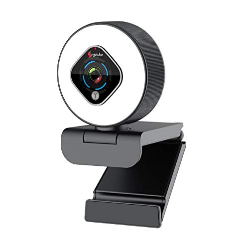 Streaming Webcam 1080P with Ring Light - HD Web Camera with Digital Zoom Autofocus for Computer PC Laptop Mac - Angetube 962 USB Web Cam for Gaming Xbox Google Meet