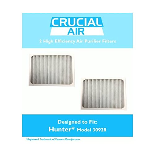 Crucial Air Purifier Filter – Compatible with Hunter Brand Filter Part # 30928 – Models 30057, 30059, 30067, 30078, 30079, 30097, 30124, 30126 – Bulk Packs (2 Pack)
