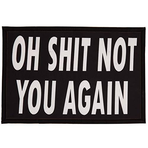 Funny Entrance 'Oh Shit Not You Again' Doormat, Humor Housewarming Gift Welcome Non-Slip Mat, 35 x 24 Inch