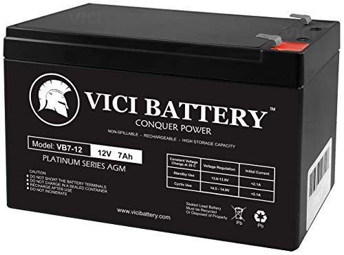 VICI Battery VB7-12 - 12V 7AH Replacement UPS Battery for APC Back-UPS 550 BE550G Brand Product
