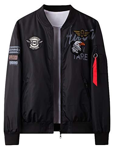 Lavnis Men's MA-1 Flight Jackets Casual Lightweight Bomber Jacket Air Sky Jacket Black M