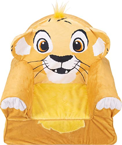Marshmallow Furniture Foam Toddler Comfy Chair Kid's Furniture for Ages 18 Months and Up, Disney's The Lion King, Multicolor, 1.63-Pound