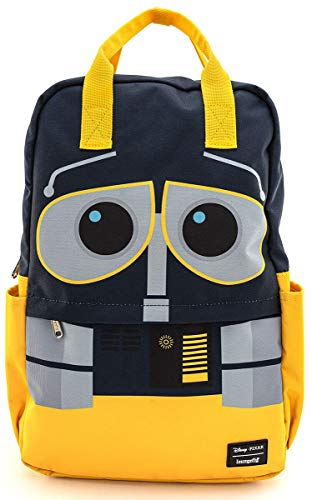 Loungefly x Disney Pixar WALL-E Square Nylon Backpack (One Size, Yellow Multi)