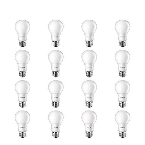 Philips LED 461129 Non-Dimmable A19 Frosted Light Bulb: 800-Lumen, 2700-Kelvin, 10-Watt (60-Watt Equivalent), E26 Base, Soft White, 16-Pack
