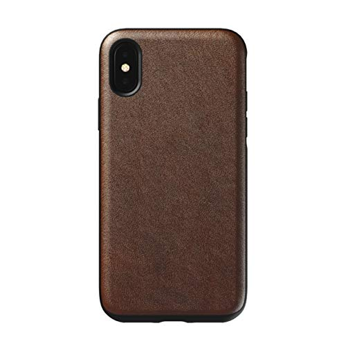 Nomad Rugged Case for iPhone Xs | Rustic Brown Horween Leather