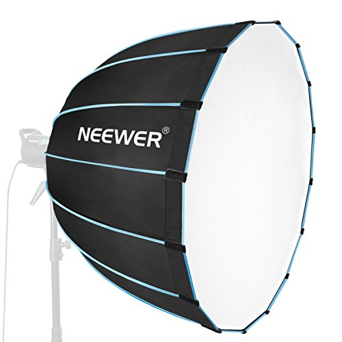 Neewer Hexadecagon Softbox 36 inches/90 Centimeters with Blue Rim and Bowens Mount, Portable and Quick Folding Softbox Diffuser for Photography Speedlites Flash Monolight and More