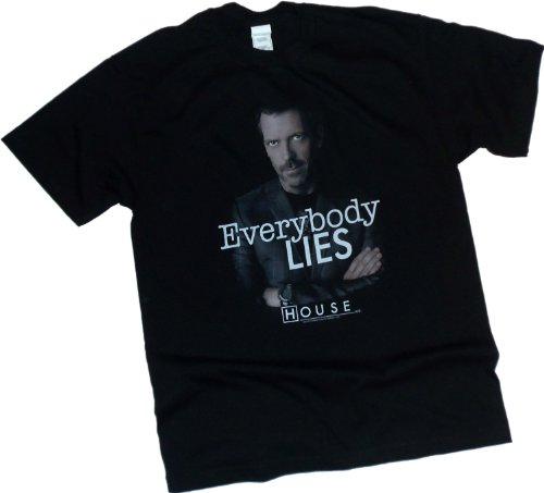 'Everybody Lies' -- NBC's House M.D. Adult T-Shirt, X-Large
