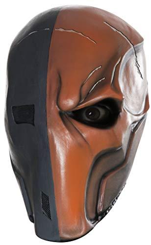 Rubie's Men's Arkham City Death Stroke 3/4 Vinyl Mask, Multi, One Size