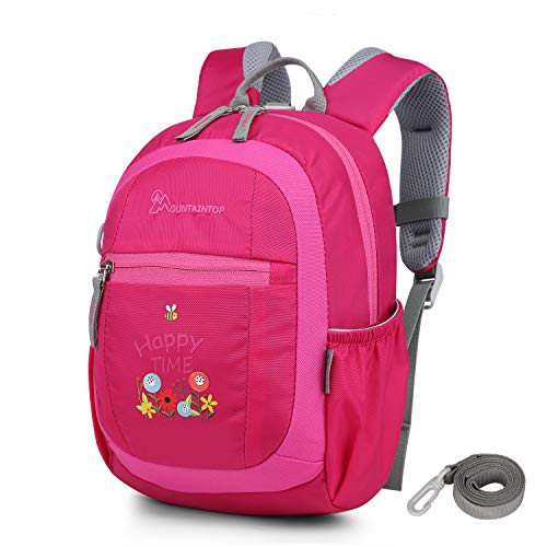 Mountaintop Kids Toddler Backpack with Detachable Safety Tether,8.7 x 3.7 x 12.2 in