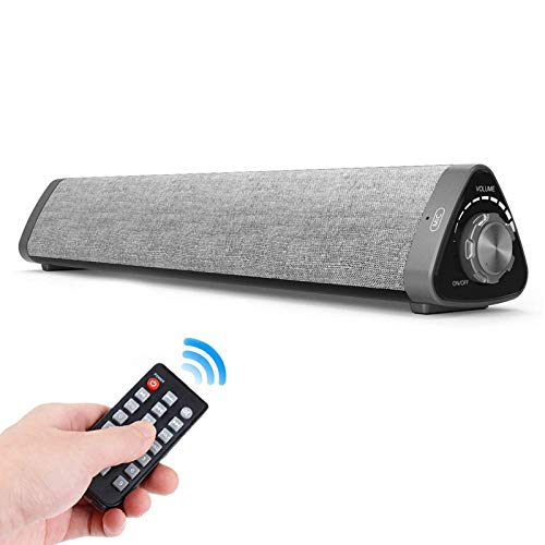 Soundbar, TOPROAD Sound Bar with Built-in Mic and Bluetooth, Wired and Wireless Speaker for TV/PC/Phones/Tablets with Remote Control