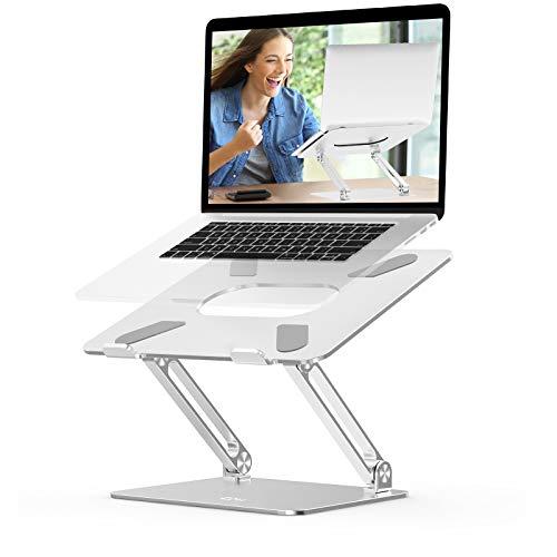 EPNLaptopStand,ErgonomicAluminiumAlloyComputerRiserAdjustableHeightPortableHolderforDeskwithHeat-Vent,CompatibleforMacBookPro/Air,DellXPS,HP,SamsungLaptopsUpto17'Silver