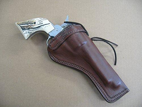 Ruger Blackhawk 7 1/2' Single Action Revolver Leather Cross Draw Holster Dark Brown RH