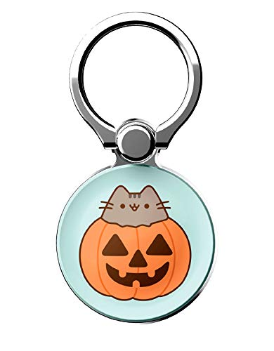 iFace x Pusheen Licensed Series Universal Smartphone Ring Holder Accessory for Girls/Women - Cute Stick-On Phone Attachment for iPhone, Samsung Galaxy, etc. - Jack O' Lantern
