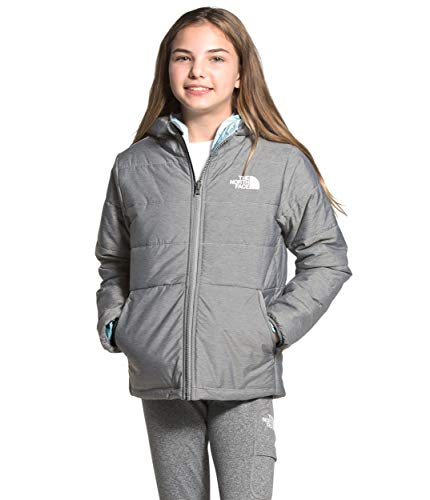 The North Face Girls' Reversible Perrito Jacket, TNF Medium Grey Heather, M