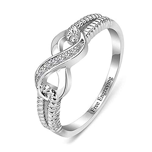 Lam Hub Fong Personalized Infinity Friendship Rings BFF Rings for Women Sisters Rings Name Rings Promise Rings for Her Valentines Day Jewelry for Women (6)