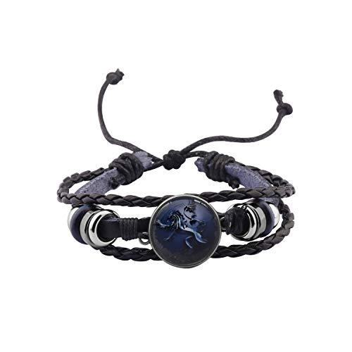HOLLP Game Of Thrones Inspired Bracelet Game of Thrones Fans Gift House Stark, Baratheon,Lannister and Targaryen Bracelet Gift for Boyfriend (Lannister Bracelet)