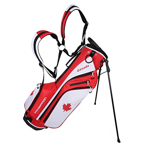 PROSiMMON Golf DRK 7' Lightweight Golf Stand Bag with Dual Straps Canadian Flag