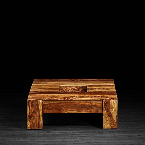 Artemano Lydia Square Coffee Table, Light Brown