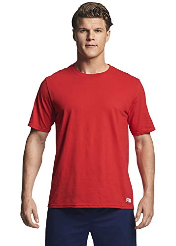Russell Athletic mens Performance Cotton Short Sleeve T-Shirt, true red, M