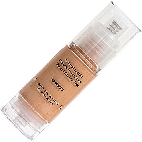 Shimarz Neutral Liquid Mineral Foundation Best Cosmetics Formula For Young to Older Mature Women with Full Skin Coverage, Pump to Complete Beauty to Cover and Achieve The Flawless Look - Bamboo