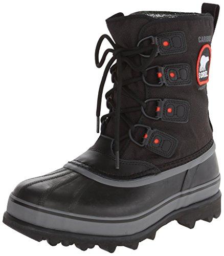 Sorel Men's Caribou Extreme Snow Boot,Black/Shale,8 M US
