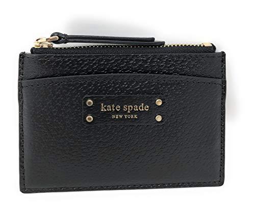 Kate Spade New York Small Zip Card Holder Wallet Coin Purse Black