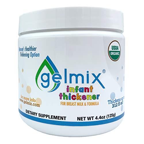 USDA Organic Gelmix Infant Thickener for Breast Milk and Formula, 4.4oz Jar