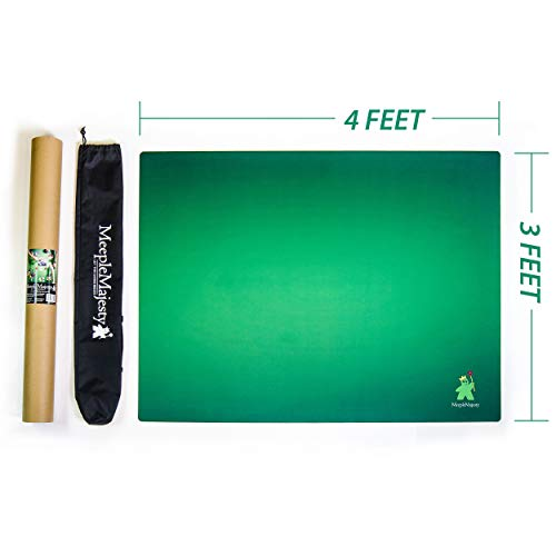 Meeple Majesty Tabletop Gaming Mat 36' x 48' with Travel Bag & Storage Tube | for Board Games | Dice | Cards & RPG's