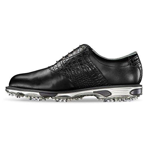 FootJoy Men's DryJoys Tour Golf Shoes, Black/Black Croc, 13 M US