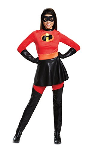 Disguise Women's Plus Size Mrs. Incredible Skirted Deluxe Adult Costume, red, XL (18-20)