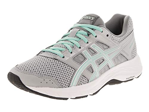 ASICS Women's Gel-Contend 5 Running Shoes, 9.5, MID Grey/ICY Morning
