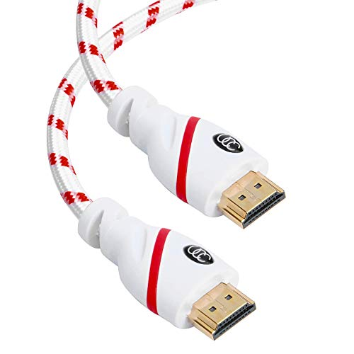 HDMI Cable 30 ft - 4K Resolution UHD 2.0b Ready - Supports Ethernet Ultra HDR Video HD Bandwidth 18Gbps - Audio Return Channel - 30 Feet (9.1 Meters) High Speed HDMI Cable
